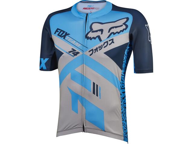 Fox Ascent Pro Lyhythihainen Jersey Miehet, blue